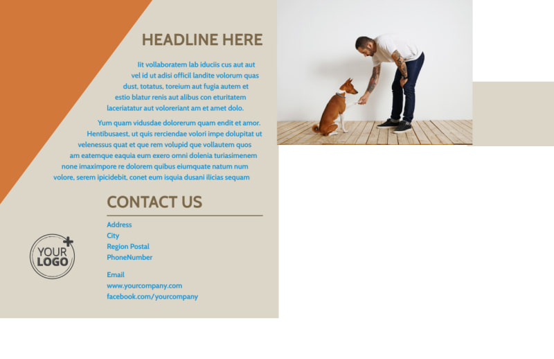 Animal Charity Postcard Template Preview 3