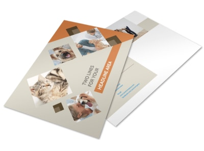 Animal Charity Postcard Template preview