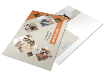 Animal Charity Postcard Template