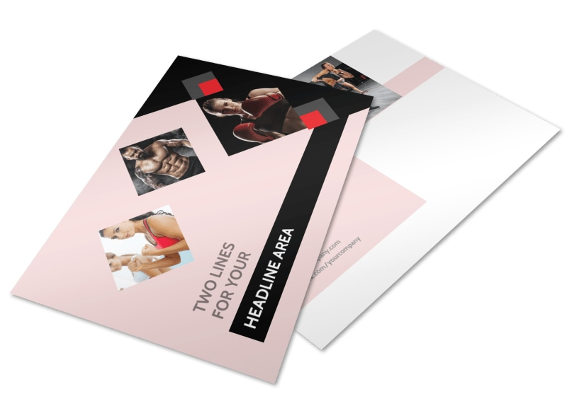Boxing Gym Postcard Template 2