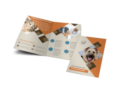 Animal Charity Bi-Fold Brochure Template