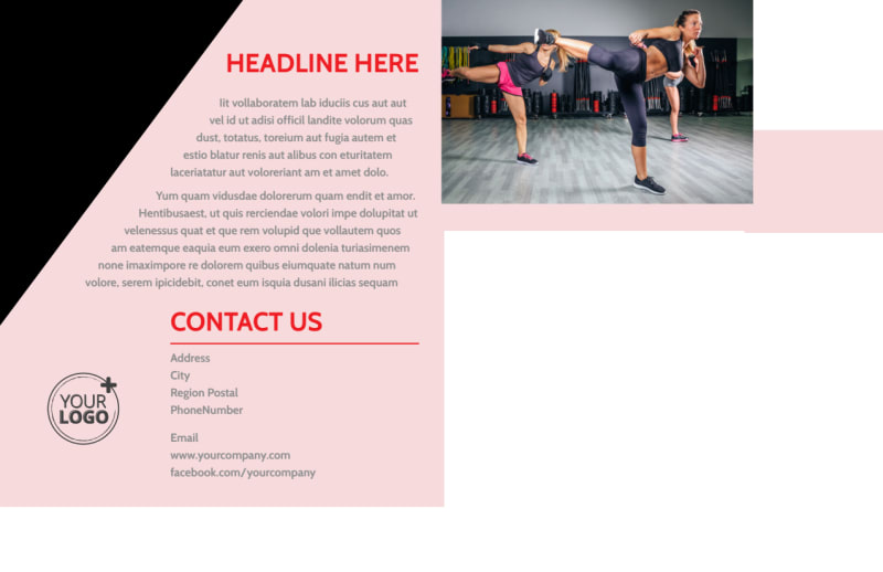 Boxing Gym Postcard Template Preview 3
