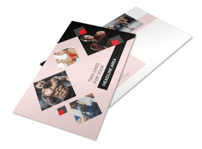 Boxing Gym Postcard Template preview