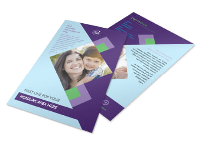 Family Adoption Agency Flyer Template 3