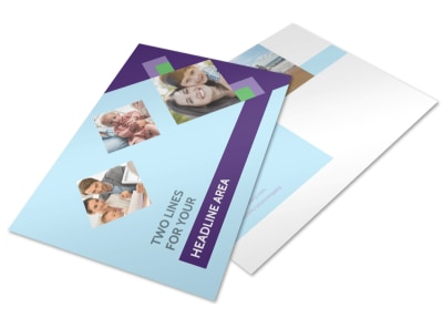 Family Adoption Agency Postcard Template 2