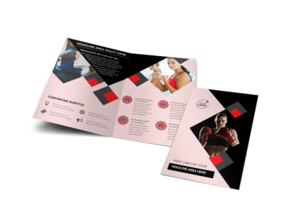 Boxing Gym Bi-Fold Brochure Template preview