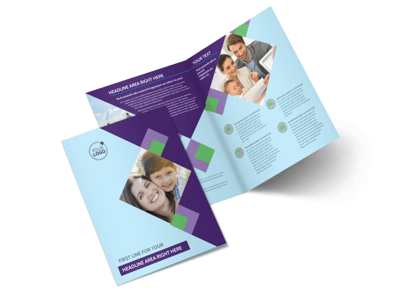Family Adoption Agency Bi-Fold Brochure Template 2
