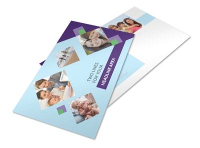 Family Adoption Agency Postcard Template