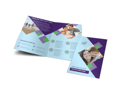 Family Adoption Agency Bi-Fold Brochure Template