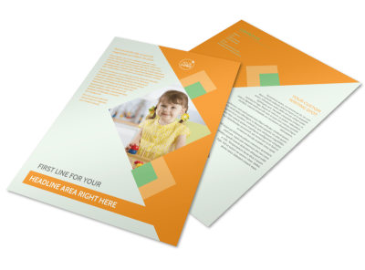 Preschool Kids & Day Care Flyer Template preview