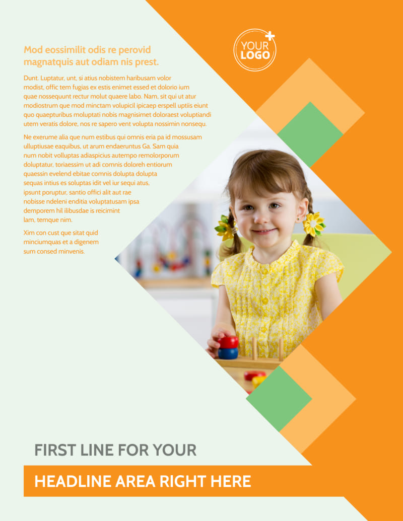 Early Years Day Care Flyer Template Preview 2