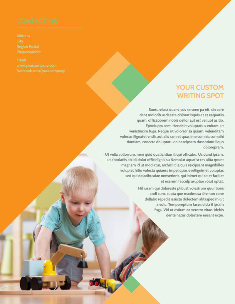 Early Years Day Care Flyer Template Preview 3