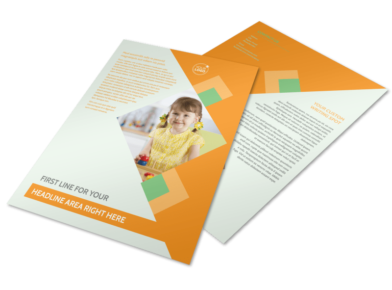 Early Years Day Care Flyer Template Preview 1