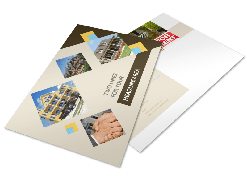 Local Property Management Postcard Template Preview 1