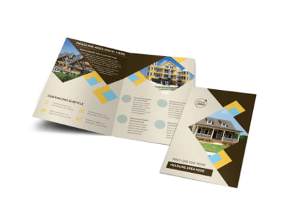 Local Property Management Bi-Fold Brochure Template preview