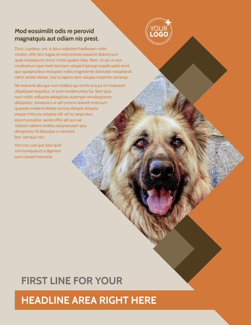 Animal Charity Flyer Template Preview 2