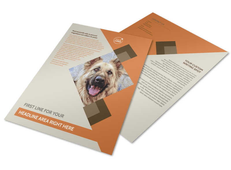 Animal Charity Flyer Template Preview 1