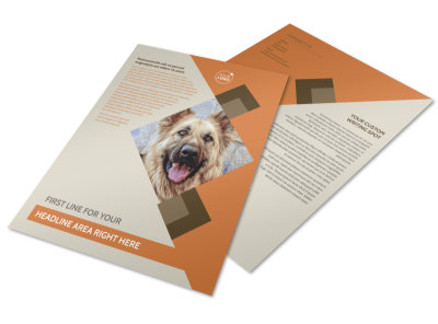 Animal Charity Flyer Template preview