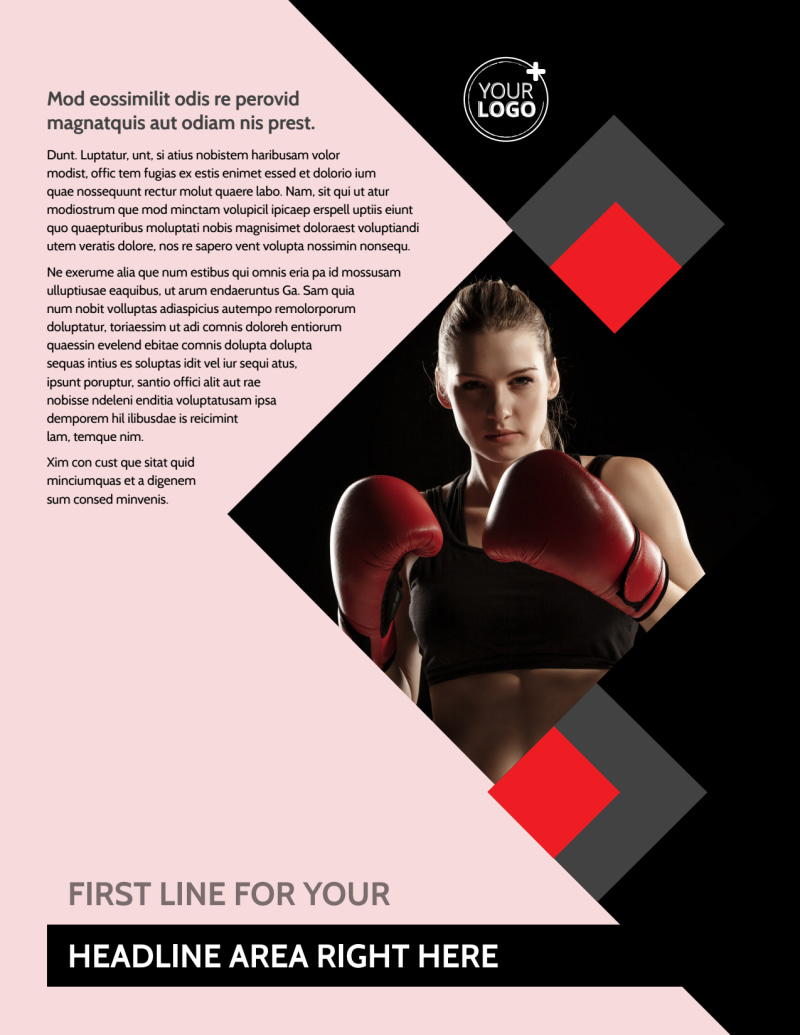 Boxing Gym Flyer Template Preview 2