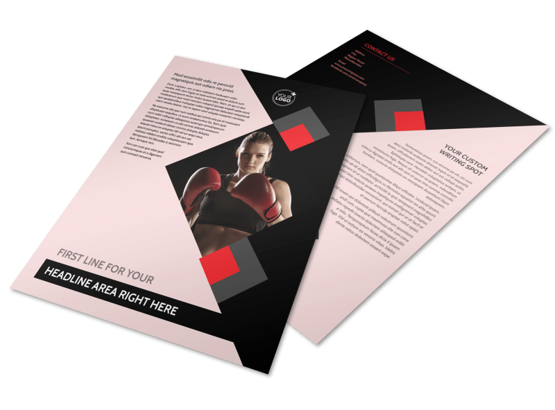 Boxing Gym Flyer Template Preview 1