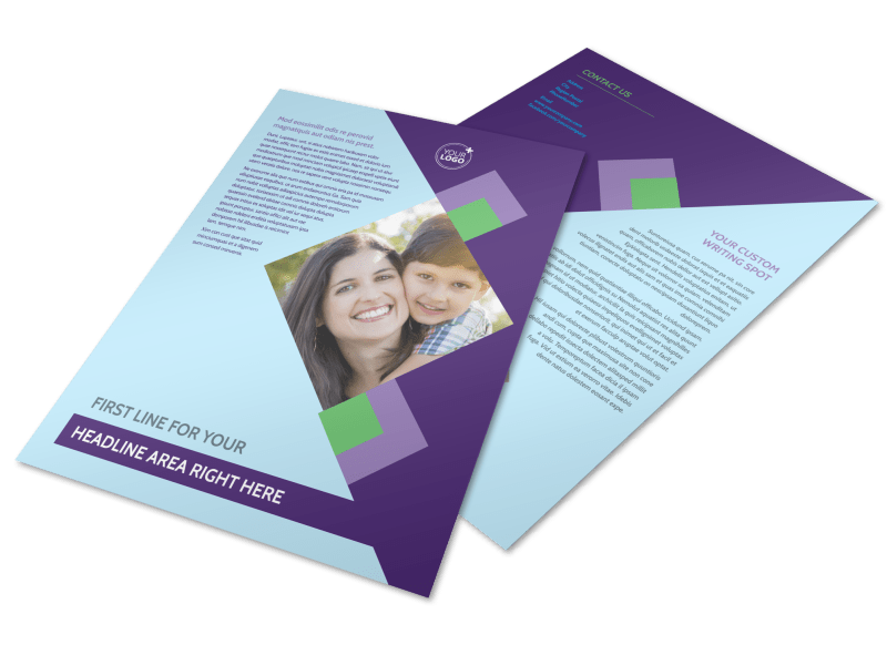 Family Adoption Agency Flyer Template Preview 1