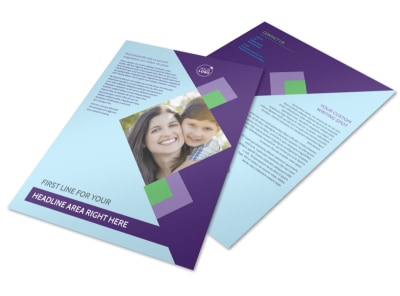 Family Adoption Agency Flyer Template