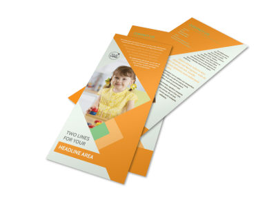 Preschool Kids & Day Care Rack Card Template 2 preview