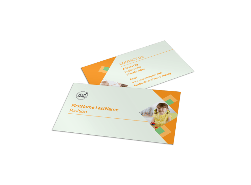 Early Years Day Care Business Card Template Preview 1