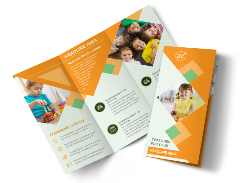 early years day care brochure template