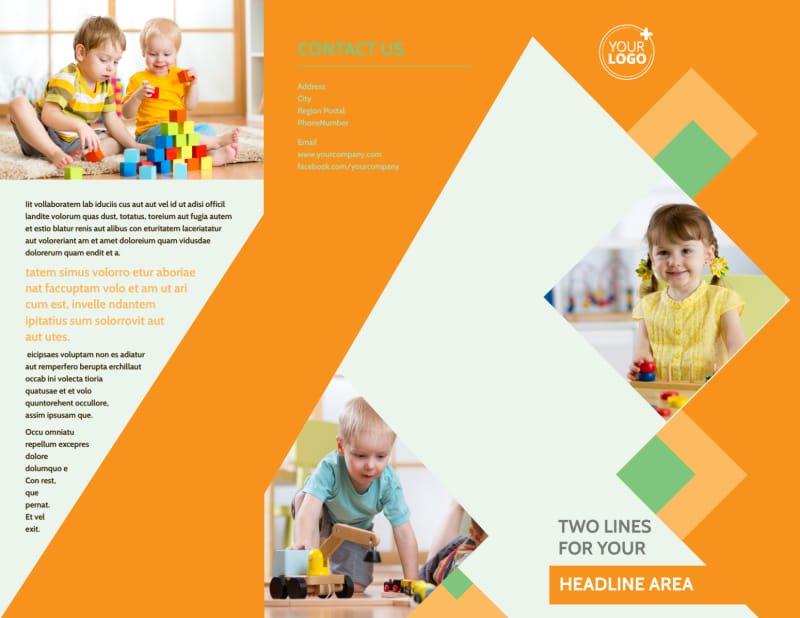 Early Years Day Care Brochure Template Preview 2