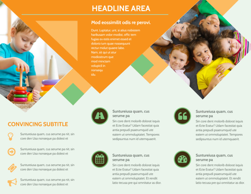 Early Years Day Care Brochure Template Preview 3