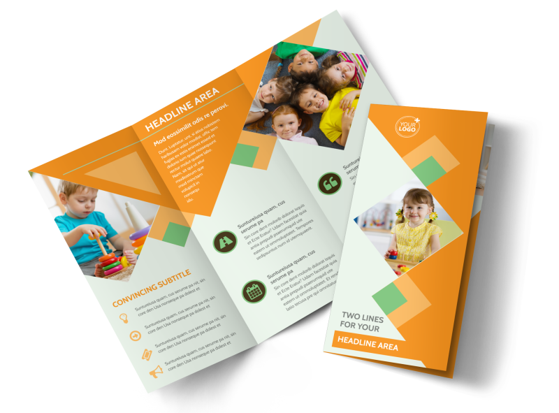 Early Years Day Care Brochure Template Preview 1