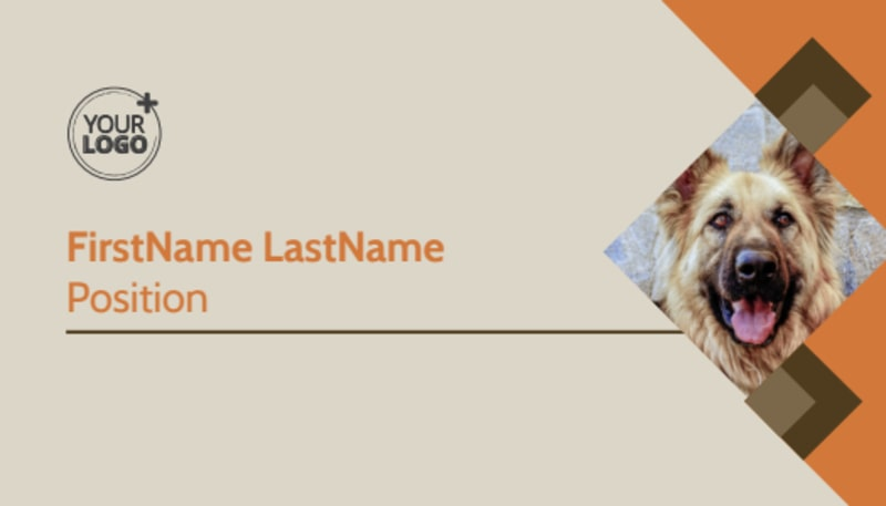 Animal Charity Business Card Template Preview 2
