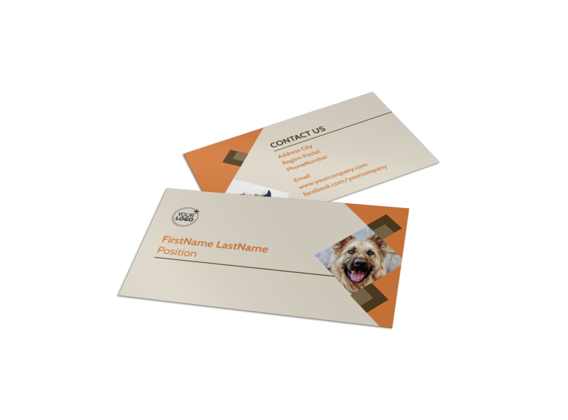 Animal Charity Business Card Template Preview 1