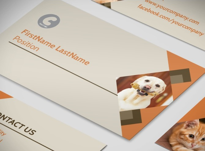 Animal charity business card template for Aspx login page template