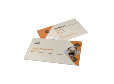 Animal Charity Business Card Template preview