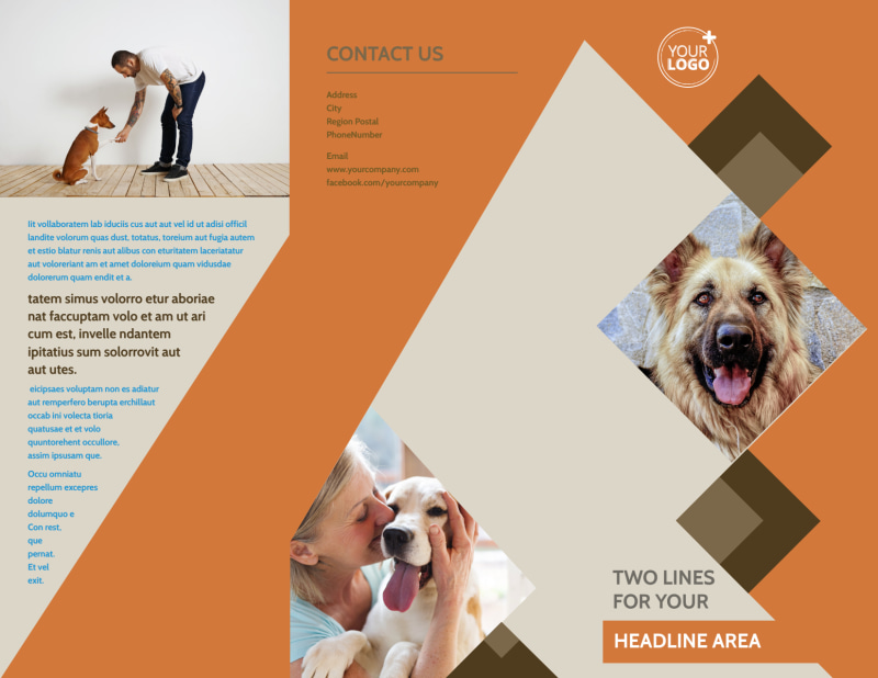 Animal Charity Brochure Template Preview 2