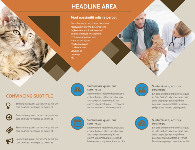Animal Charity Brochure Template Preview 3