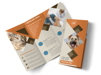 Animal Charity Tri-Fold Brochure Template