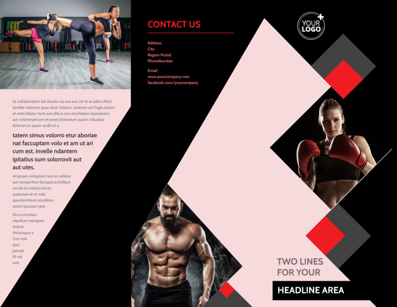 Boxing Gym Brochure Template Preview 2