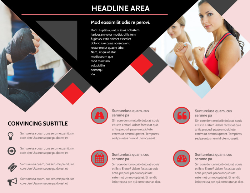 Boxing Gym Brochure Template Preview 3