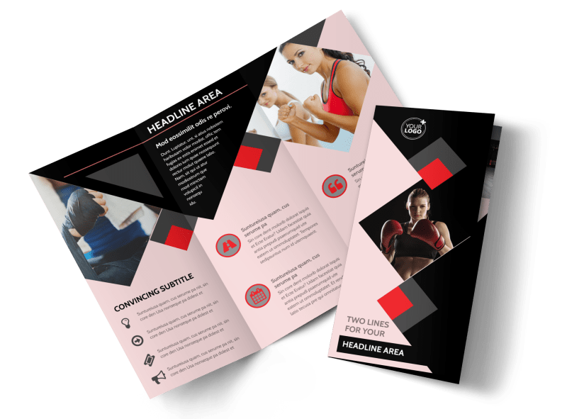 Boxing Gym Brochure Template Preview 1