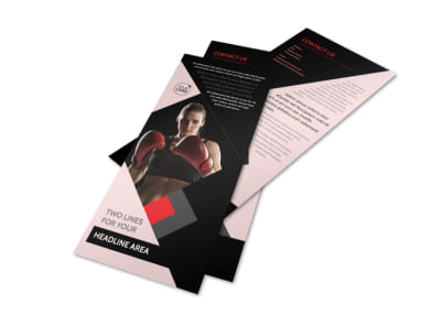 Boxing Gym Flyer Template 2
