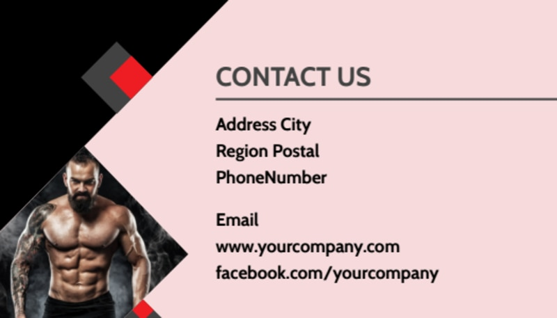 Boxing Gym Business Card Template Preview 3