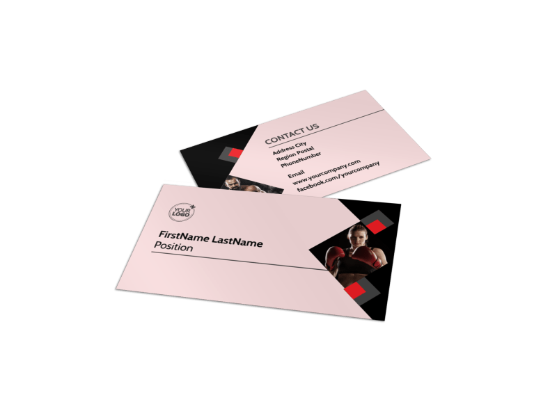 Boxing Gym Business Card Template Preview 1
