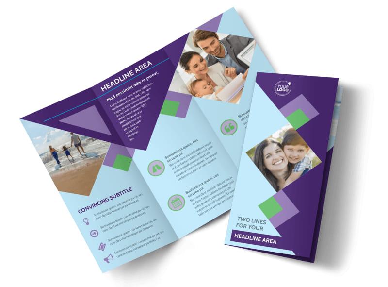 Family Adoption Agency Tri-Fold Brochure Template