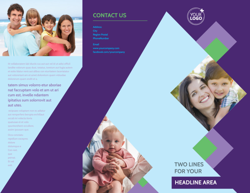 Family Adoption Agency Brochure Template Preview 2