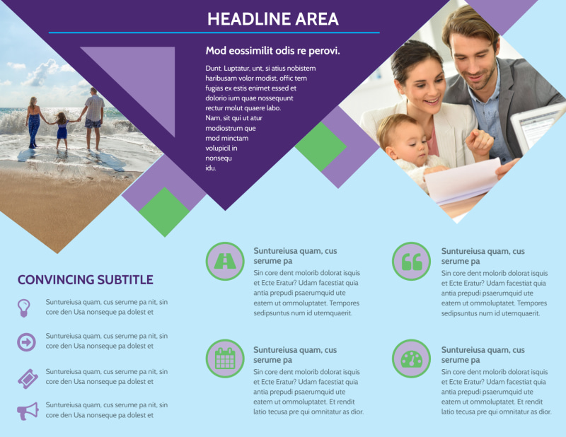 Family Adoption Agency Brochure Template Preview 3