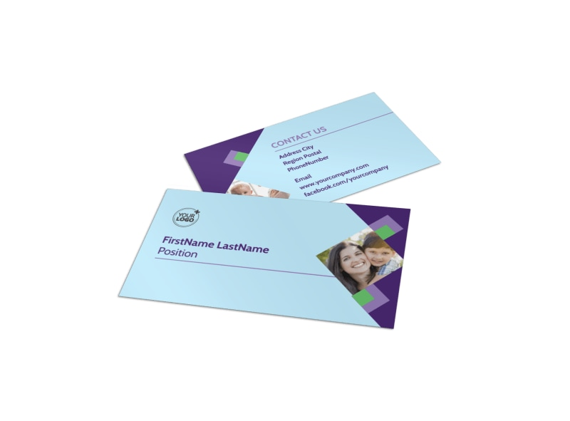 Family Adoption Agency Business Card Template