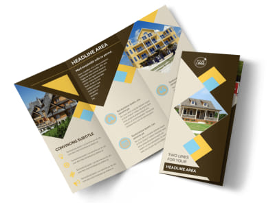 Local Property Management Tri-Fold Brochure Template preview